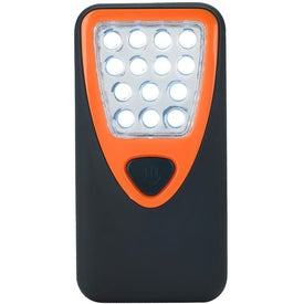 Personalized Rubberized Working Light With Heavy Duty Magnet
