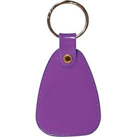 Imprinted Saddle Key Tag