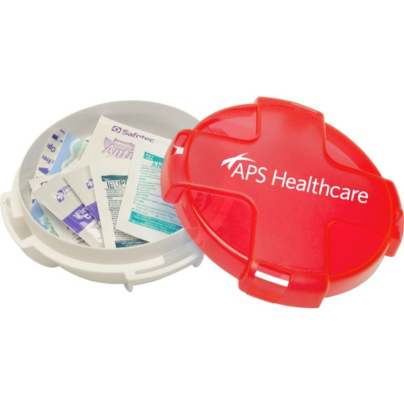 Translucent Red / White Safe Care First Aid Kit