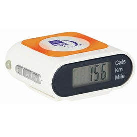 Safety Pedometer with Your Slogan