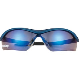 Safety Works Dallas Blue Mirrored Safety Glasses for Advertising