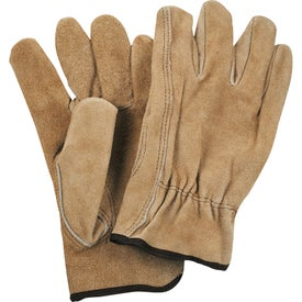 Printed Safety Works Split Cow Leather Driver's Gloves