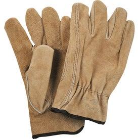 Monogrammed Safety Works Split Cow Leather Driver's Gloves
