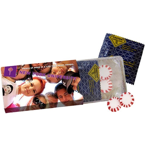 Full Color Imprint Safevelope Condom and Mints in Envelope