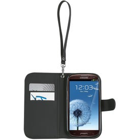 Personalized Samsung S3 Case with Magnetic Close Tab and Strap