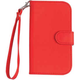 Company Samsung S3 Case with Magnetic Close Tab and Strap