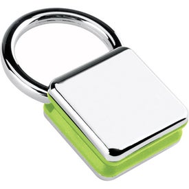 Sandwiched Color Block Key Tag Branded with Your Logo