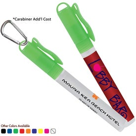 Logo Sani-Mist Pocket Sprayer with Carabiner