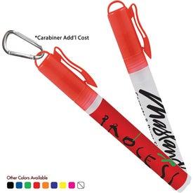 Logo Sani-Mist Pocket Sprayer with Carabiner