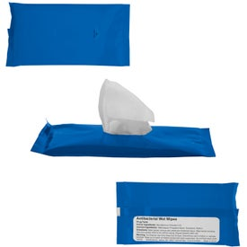 Sanitizer Wipes in Re-Sealable Pouch Branded with Your Logo