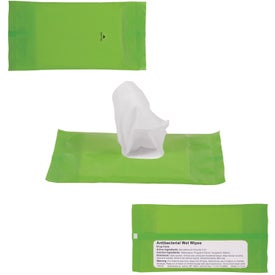 Branded Sanitizer Wipes in Re-Sealable Pouch