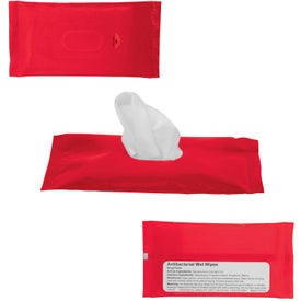 Customized Sanitizer Wipes in Re-Sealable Pouch