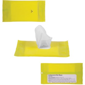 Custom Sanitizer Wipes in Re-Sealable Pouch