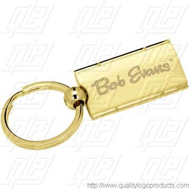 Imprinted Satin Rectangle Swivel Key Holder