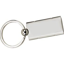 Satin Rectangle Swivel Key Holder for Advertising