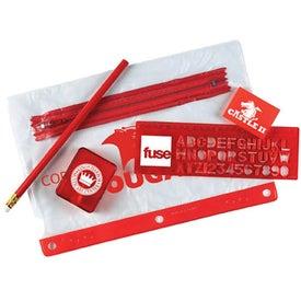 Customized School Kit with 3 Hole Zipper Case