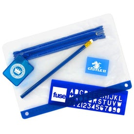 School Kit with 3 Hole Zipper Case Giveaways