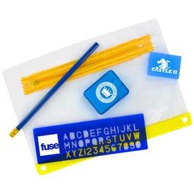 School Kit with 3 Hole Zipper Case