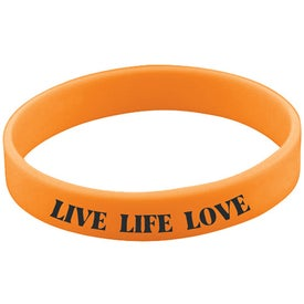 Screened Wristband Printed with Your Logo