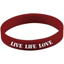 Screened Wristband with Your Logo