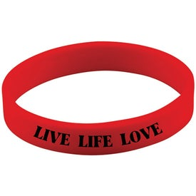 Screened Wristband Imprinted with Your Logo