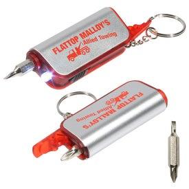Custom Screwdriver Flashlight Key Chain