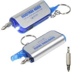 Advertising Screwdriver Flashlight Key Chain
