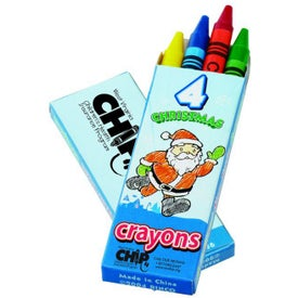 Seasons Greetings 4 Color Crayon Pack