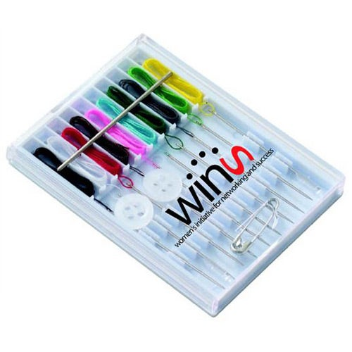 White Travel Sewing Kit