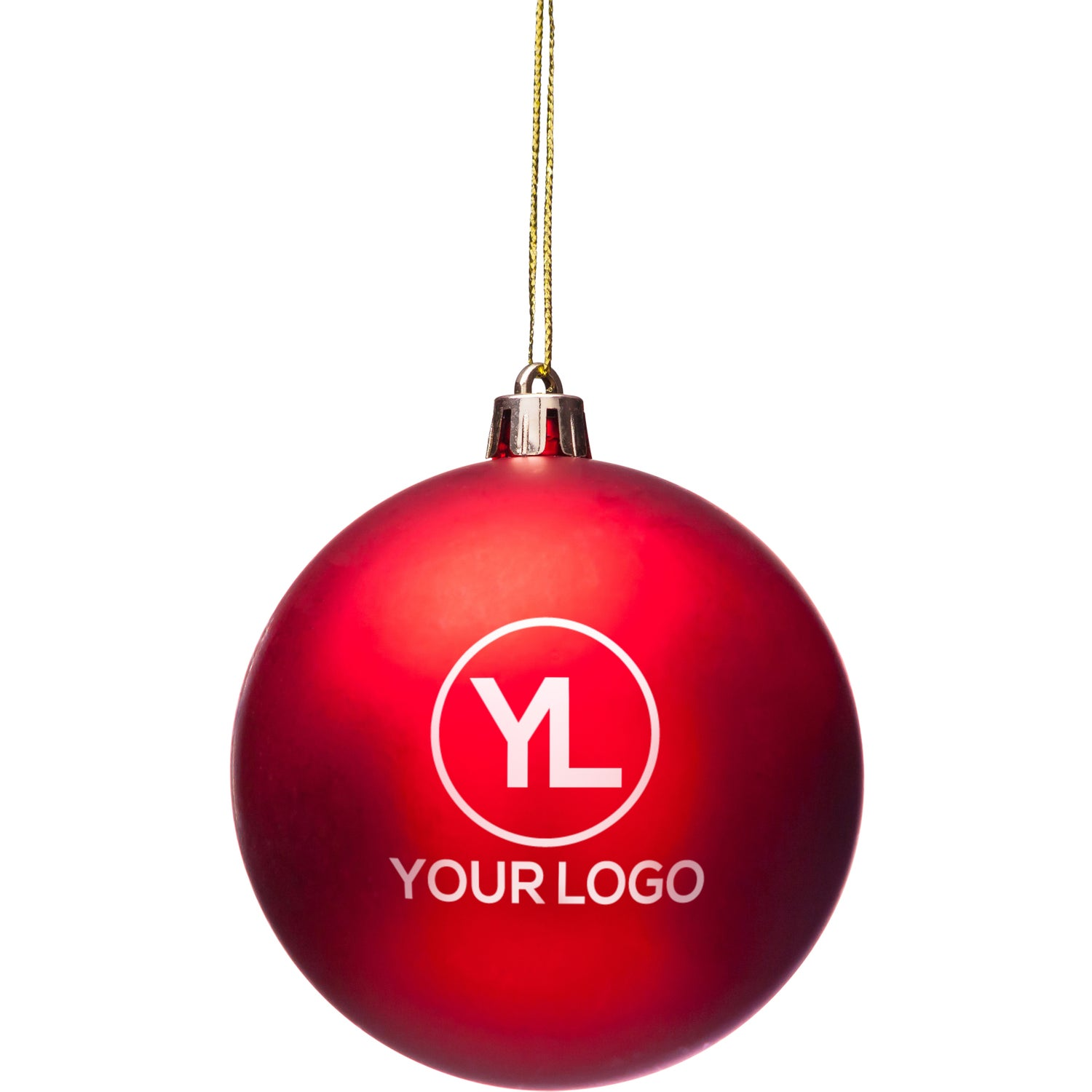 promotional shatter resistant ornaments with custom logo for 144 ea