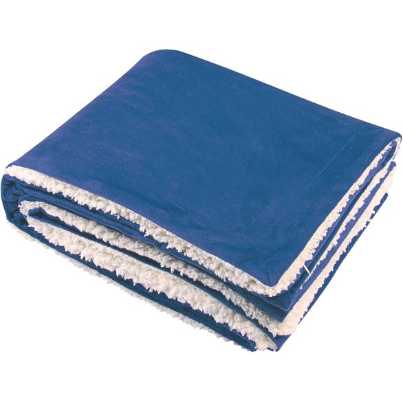 Royal Blue Sherpa Blanket
