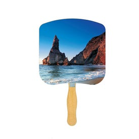 Shoreline at Daytime Inspirational Fan (Full Color Logo)