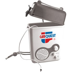 Shower Radio With Storage Compartment Printed with Your Logo