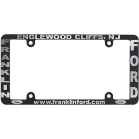 Side Imprint License Plate Frame (White and Black)