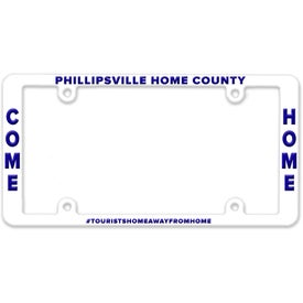Side Imprint License Plate Frames (Black)