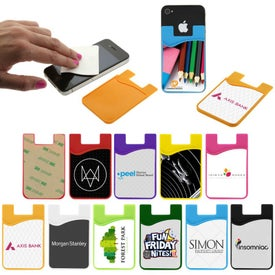 Silicon Smart Phone Wallet with Microfiber