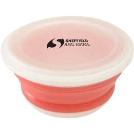 Silicone Collapsi-Bowl Printed with Your Logo