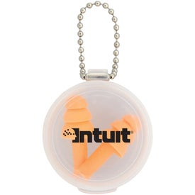 Customized Silicone Earplug Keychain
