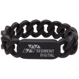 Silicone Link Wristband for Advertising