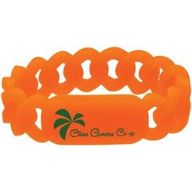 Logo Silicone Link Wristband
