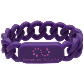 Silicone Link Wristband with Your Logo