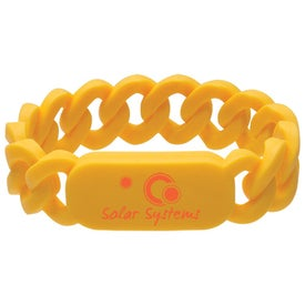 Silicone Link Wristband Imprinted with Your Logo