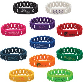 Company Silicone Link Wristband