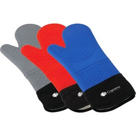 Silicone Oven Mitt Printed with Your Logo