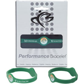 Silicone Performance Bracelet Printed with Your Logo