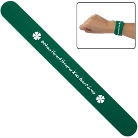 Silicone Slap Bracelet Branded with Your Logo