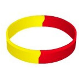 "Debossed Segmented Silicone Wristband (1/2"")"