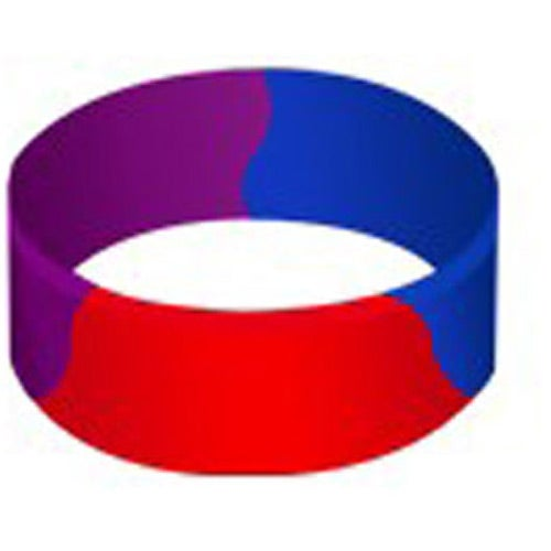 Awareness Color Filled Segmented Silicone Wristband