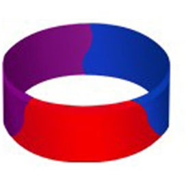 "Embossed Color Filled Segmented Silicone Wristband (1"")"