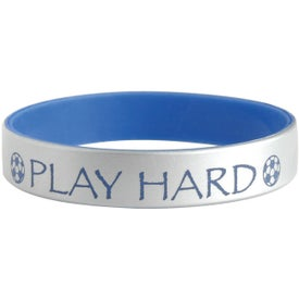 Silver Silicone Bracelets Giveaways